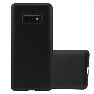 Cadorabo Hülle für Samsung Galaxy S10e in METALLIC SCHWARZ - Handyhülle aus flexiblem TPU Silikon - Silikonhülle Schutzhülle Ultra Slim Soft Back Cover Case Bumper