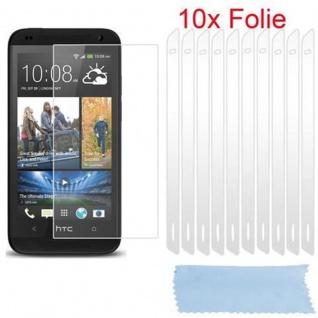 Cadorabo Displayschutzfolien für HTC DESIRE 700 - Schutzfolien in HIGH CLEAR ? 10 Stück hochtransparenter Schutzfolien gegen Staub, Schmutz und Kratzer