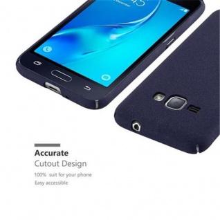 Cadorabo Hülle für Samsung Galaxy J1 2016 in FROSTY BLAU - Hardcase Handyhülle aus Plastik gegen Kratzer und Stöße - Schutzhülle Bumper Ultra Slim Back Case Hard Cover - Vorschau 3