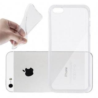 Cadorabo Hülle für Apple iPhone 5 / iPhone 5S / iPhone SE in VOLL TRANSPARENT - Handyhülle aus flexiblem TPU Silikon - Silikonhülle Schutzhülle Ultra Slim Soft Back Cover Case Bumper