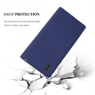 Cadorabo Hülle für Sony Xperia L1 in FROST DUNKEL BLAU - Handyhülle aus flexiblem TPU Silikon - Silikonhülle Schutzhülle Ultra Slim Soft Back Cover Case Bumper - Vorschau 5