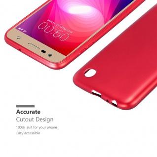 Cadorabo Hülle für LG X Power 2 in METALLIC ROT - Handyhülle aus flexiblem TPU Silikon - Silikonhülle Schutzhülle Ultra Slim Soft Back Cover Case Bumper - Vorschau 5
