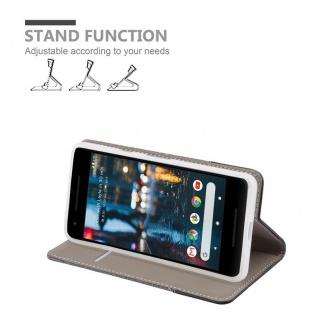 Cadorabo Hülle für Google Pixel 2 in GRAU SCHWARZ - Handyhülle mit Magnetverschluss, Standfunktion und Kartenfach - Case Cover Schutzhülle Etui Tasche Book Klapp Style - Vorschau 3