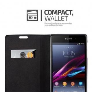 Cadorabo Hülle für Sony Xperia Z1 in APFEL ROT Handyhülle mit Magnetverschluss, Standfunktion und Kartenfach Case Cover Schutzhülle Etui Tasche Book Klapp Style - Vorschau 3