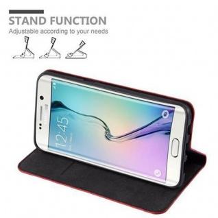 Cadorabo Hülle für Samsung Galaxy S6 EDGE PLUS in APFEL ROT - Handyhülle mit Magnetverschluss, Standfunktion und Kartenfach - Case Cover Schutzhülle Etui Tasche Book Klapp Style - Vorschau 2