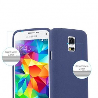 Cadorabo Hülle für Samsung Galaxy S5 MINI / S5 MINI DUOS in FROST DUNKEL BLAU Handyhülle aus flexiblem TPU Silikon Silikonhülle Schutzhülle Ultra Slim Soft Back Cover Case Bumper - Vorschau 5