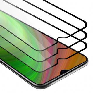 Cadorabo 3x Vollbild Panzer Folie für Samsung Galaxy M30s - Schutzfolie in TRANSPARENT mit SCHWARZ - 3er Pack Gehärtetes (Tempered) Display-Schutzglas in 9H Härte mit 3D Touch