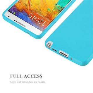 Cadorabo Hülle für Samsung Galaxy NOTE 3 in JELLY HELL BLAU ? Handyhülle aus flexiblem TPU Silikon ? Silikonhülle Schutzhülle Ultra Slim Soft Back Cover Case Bumper - Vorschau 4