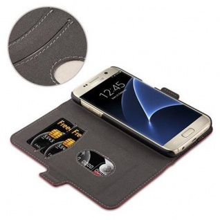 Cadorabo Hülle für Samsung Galaxy S7 - Hülle in GRANATAPFEL ROT - Handyhülle im 2-in-1 Design mit Standfunktion und Kartenfach - Hard Case Book Etui Schutzhülle Tasche Cover - Vorschau 5