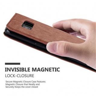 Cadorabo Hülle für Samsung Galaxy S8 in CAPPUCCINO BRAUN - Handyhülle mit Magnetverschluss, Standfunktion und Kartenfach - Case Cover Schutzhülle Etui Tasche Book Klapp Style - Vorschau 5