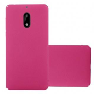 Cadorabo Hülle für Nokia 6 2017 in FROSTY PINK - Hardcase Handyhülle aus Plastik gegen Kratzer und Stöße - Schutzhülle Bumper Ultra Slim Back Case Hard Cover