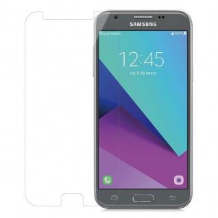 Cadorabo Panzer Folie für Samsung Galaxy J3 2017 - Schutzfolie in KRISTALL KLAR - Gehärtetes (Tempered) Display-Schutzglas in 9H Härte mit 3D Touch Kompatibilität