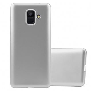 Cadorabo Hülle für Samsung Galaxy A6 2018 in METALLIC SILBER - Handyhülle aus flexiblem TPU Silikon - Silikonhülle Schutzhülle Ultra Slim Soft Back Cover Case Bumper
