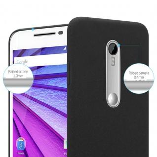 Cadorabo Hülle für Motorola MOTO G3 in FROSTY SCHWARZ - Hardcase Handyhülle aus Plastik gegen Kratzer und Stöße - Schutzhülle Bumper Ultra Slim Back Case Hard Cover - Vorschau 3
