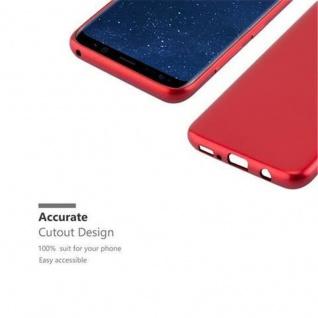 Cadorabo Hülle für Samsung Galaxy S8 in METALLIC ROT - Handyhülle aus flexiblem TPU Silikon - Silikonhülle Schutzhülle Ultra Slim Soft Back Cover Case Bumper - Vorschau 2
