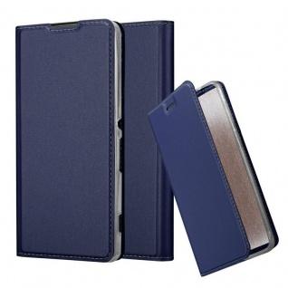 Cadorabo Hülle für Sony Xperia XA in CLASSY DUNKEL BLAU - Handyhülle mit Magnetverschluss, Standfunktion und Kartenfach - Case Cover Schutzhülle Etui Tasche Book Klapp Style