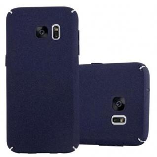 Cadorabo Hülle für Samsung Galaxy S7 in FROSTY BLAU Hardcase Handyhülle aus Plastik gegen Kratzer und Stöße Schutzhülle Bumper Ultra Slim Back Case Hard Cover