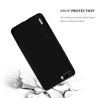 Cadorabo Hülle für Honor 6 PLUS in METALLIC SCHWARZ - Handyhülle aus flexiblem TPU Silikon - Silikonhülle Schutzhülle Ultra Slim Soft Back Cover Case Bumper - Vorschau 3