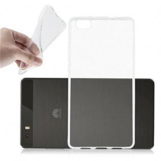 Cadorabo Hülle für Huawei P8 LITE 2015 in VOLL TRANSPARENT - Handyhülle aus flexiblem TPU Silikon - Silikonhülle Schutzhülle Ultra Slim Soft Back Cover Case Bumper