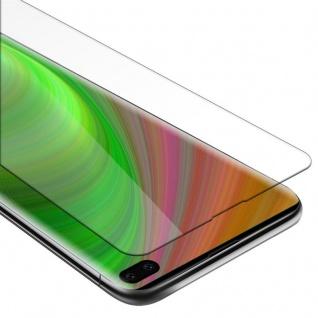 Cadorabo Panzer Folie für Samsung Galaxy S10 PLUS - Schutzfolie in KRISTALL KLAR - Gehärtetes (Tempered) Display-Schutzglas in 9H Härte mit 3D Touch Kompatibilität