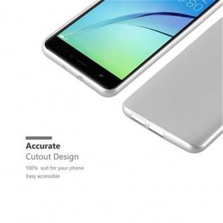 Cadorabo Hülle für Huawei NOVA in METALLIC SILBER - Handyhülle aus flexiblem TPU Silikon - Silikonhülle Schutzhülle Ultra Slim Soft Back Cover Case Bumper - Vorschau 2