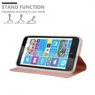 Cadorabo Hülle für Nokia Lumia 1320 in CLASSY ROSÉ GOLD - Handyhülle mit Magnetverschluss, Standfunktion und Kartenfach - Case Cover Schutzhülle Etui Tasche Book Klapp Style - Vorschau 4