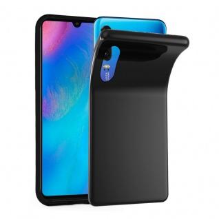 Cadorabo Hülle für Huawei P30 in SCHWARZ - Handyhülle aus flexiblem TPU Silikon - Silikonhülle Schutzhülle Ultra Slim Soft Back Cover Case Bumper