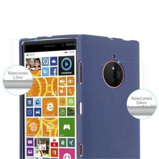 Cadorabo Hülle für Nokia Lumia 830 in FROST DUNKEL BLAU - Handyhülle aus flexiblem TPU Silikon - Silikonhülle Schutzhülle Ultra Slim Soft Back Cover Case Bumper - Vorschau 3