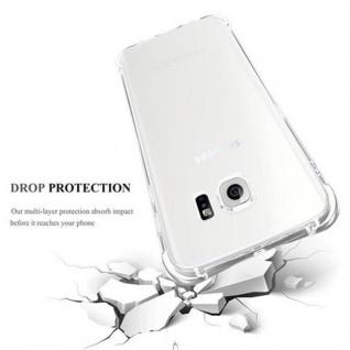 Cadorabo Hülle für Samsung Galaxy S6 EDGE - Hülle in KOMPLETT TRANSPARENT - Handyhülle aus TPU Silikon mit Schlaufe im Small Waist Design - Silikonhülle Schutzhülle Ultra Slim Soft Back Cover Case Bumper - Vorschau 4