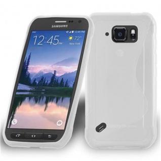 Cadorabo Hülle für Samsung Galaxy S6 ACTIVE in HALB TRANSPARENT ? Handyhülle aus flexiblem TPU Silikon ? Silikonhülle Schutzhülle Ultra Slim Soft Back Cover Case Bumper