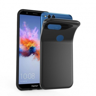 Cadorabo Hülle für Honor 7X in SCHWARZ - Handyhülle aus flexiblem TPU Silikon - Silikonhülle Schutzhülle Ultra Slim Soft Back Cover Case Bumper