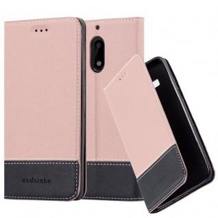 Cadorabo Hülle für Nokia 6 2017 in GOLD SCHWARZ - Handyhülle mit Magnetverschluss, Standfunktion und Kartenfach - Case Cover Schutzhülle Etui Tasche Book Klapp Style