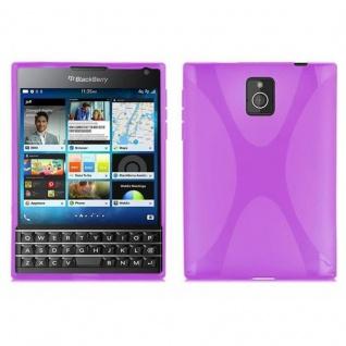 Cadorabo Hülle für Blackberry Q30 - Hülle in FLIEDER VIOLETT ? Handyhülle aus flexiblem TPU Silikon im X-Line Design - Ultra Slim Soft Backcover Case Bumper