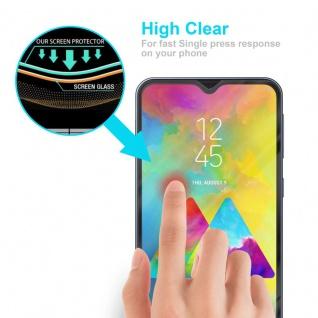 Cadorabo Vollbild Panzer Folie für Samsung Galaxy M20 - Schutzfolie in TRANSPARENT mit SCHWARZ - Gehärtetes (Tempered) Display-Schutzglas in 9H Härte mit 3D Touch Kompatibilität - Vorschau 4