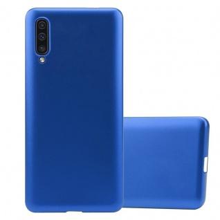 Cadorabo Hülle für Samsung Galaxy A50 in METALLIC BLAU - Handyhülle aus flexiblem TPU Silikon - Silikonhülle Schutzhülle Ultra Slim Soft Back Cover Case Bumper