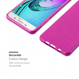 Cadorabo Hülle für Samsung Galaxy A5 2016 in PINK - Handyhülle aus flexiblem TPU Silikon - Silikonhülle Schutzhülle Ultra Slim Soft Back Cover Case Bumper - Vorschau 5