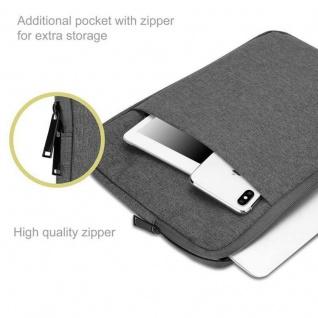 """"""" Cadorabo Laptop / Tablet Tasche 13, 3'"""" Zoll in DUNKEL GRAU ? Notebook Computer Tasche aus Stoff mit Samt-Innenfutter und Fach mit Anti-Kratz Reißverschluss ? Schutzhülle Sleeve Case"""" - Vorschau 2"""