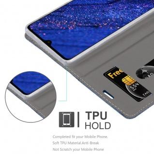 Cadorabo Hülle für Huawei MATE 20 in DUNKEL BLAU SCHWARZ - Handyhülle mit Magnetverschluss, Standfunktion und Kartenfach - Case Cover Schutzhülle Etui Tasche Book Klapp Style - Vorschau 2