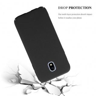 Cadorabo Hülle für Samsung Galaxy J7 2017 in FROSTY SCHWARZ - Hardcase Handyhülle aus Plastik gegen Kratzer und Stöße - Schutzhülle Bumper Ultra Slim Back Case Hard Cover - Vorschau 4