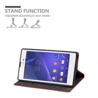 Cadorabo Hülle für Sony Xperia T3 in APFEL ROT Handyhülle mit Magnetverschluss, Standfunktion und Kartenfach Case Cover Schutzhülle Etui Tasche Book Klapp Style - Vorschau 3