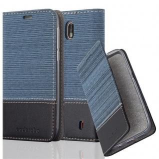 Cadorabo Hülle für Nokia 1 2017 in DUNKEL BLAU SCHWARZ - Handyhülle mit Magnetverschluss, Standfunktion und Kartenfach - Case Cover Schutzhülle Etui Tasche Book Klapp Style