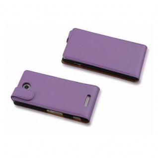 Cadorabo Hülle für Sony Xperia C in FLIEDER VIOLETT - Handyhülle im Flip Design aus glattem Kunstleder - Case Cover Schutzhülle Etui Tasche Book Klapp Style - Vorschau 2