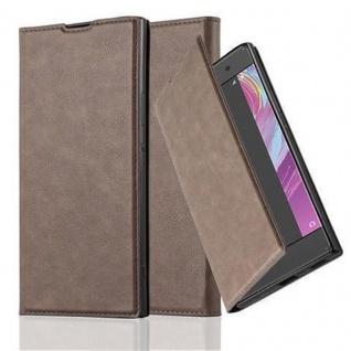Cadorabo Hülle für Sony Xperia XA in KAFFEE BRAUN - Handyhülle mit Magnetverschluss, Standfunktion und Kartenfach - Case Cover Schutzhülle Etui Tasche Book Klapp Style