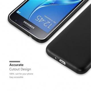 Cadorabo Hülle für Samsung Galaxy J1 2016 in METALLIC SCHWARZ - Handyhülle aus flexiblem TPU Silikon - Silikonhülle Schutzhülle Ultra Slim Soft Back Cover Case Bumper - Vorschau 2