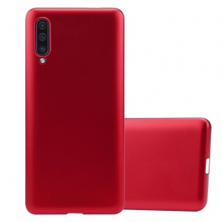Cadorabo Hülle für Samsung Galaxy A50 in METALLIC ROT - Handyhülle aus flexiblem TPU Silikon - Silikonhülle Schutzhülle Ultra Slim Soft Back Cover Case Bumper