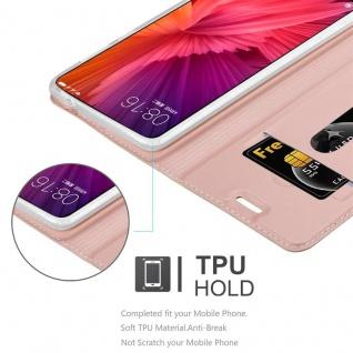 Cadorabo Hülle für Xiaomi Mi MIX 2 in CLASSY ROSÉ GOLD - Handyhülle mit Magnetverschluss, Standfunktion und Kartenfach - Case Cover Schutzhülle Etui Tasche Book Klapp Style - Vorschau 2