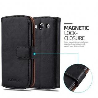 Cadorabo Hülle für Samsung Galaxy S3 / S3 NEO in GRAPHIT SCHWARZ ? Handyhülle mit Magnetverschluss, Standfunktion und Kartenfach ? Case Cover Schutzhülle Etui Tasche Book Klapp Style - Vorschau 2