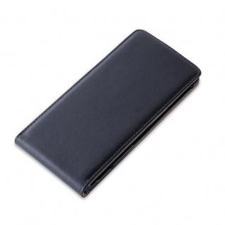 Cadorabo Hülle für Sony Xperia Z3 in KAVIAR SCHWARZ - Handyhülle im Flip Design aus glattem Kunstleder - Case Cover Schutzhülle Etui Tasche Book Klapp Style - Vorschau 2