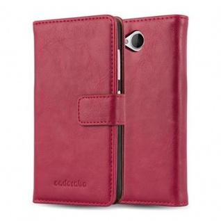 Cadorabo Hülle für Nokia Lumia 650 in WEIN ROT ? Handyhülle mit Magnetverschluss, Standfunktion und Kartenfach ? Case Cover Schutzhülle Etui Tasche Book Klapp Style