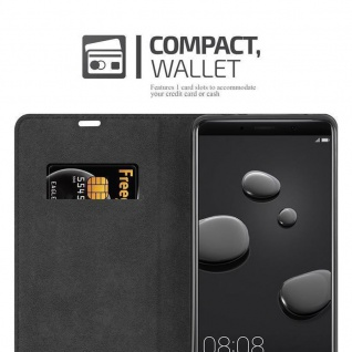 Cadorabo Hülle für Huawei MATE 10 in APFEL ROT - Handyhülle mit Magnetverschluss, Standfunktion und Kartenfach - Case Cover Schutzhülle Etui Tasche Book Klapp Style - Vorschau 5